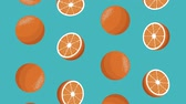 kalori : Fruits oranges pattern background high definition animation colorful scenes