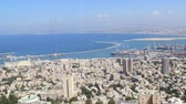 medio oriente : Haifa, Israel - september 27, 2019: 4k timelapse footage of Haifas port