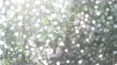Rain drops on car window glasses natural pattern of raindrops background Stock mozgókép