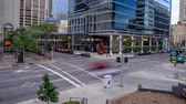 капитализм : Time lapse of busy street in the evening  in Calgary, Alberta Canada. This busy street is located in Calgarys financial district.