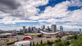 финансовый : Time-lapse of the Calgary skyline  in Calgary, Alberta. This vantage point is from Scotsmans Hill above the stampede grounds.