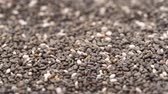 Close up horizontal panning over chia seeds video