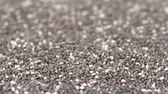Close up panning moving over chia seeds video