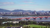 Seoul, Korea - August 26, 2016: Cityscape of Seoul with Han river. Seoul is the capital and largest metropolis of the South Korea. And Han River is the largest river in Korea flowing across Seoul. Dostupné videozáznamy