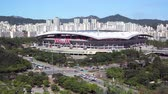 Seoul, Korea - 26 augustus 2016: Seoul World Cup Stadium, of Sangam Stadium. Het is gelegen in Mapo-gu en het is het op een na grootste stadion in Zuid-Korea. Het werd gebouwd voor de FIFA Wereldbeker van 2002.