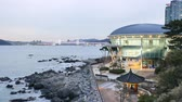 suspensão : Busan, Korea - January 22, 2016: The Nurimaru APEC is located on Dongbaekseom island and built for the 2nd APEC Leaders meeting in 2005. The building has been used as a memorial hall after the APEC.