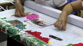 VIETNAM, HA NOI, 14 AUGUST 2014 - Fancywork of Vietnam women embroiderers at the manufactory