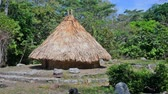 bouda : Traditional house of a Kogi Indian in Tayrona National Park in Colombia