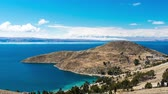 sol : Time lapse view of the Isla del Sol on the Bolivian side of Lake Titicaca Stock Footage