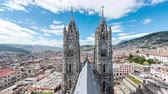 Латинской Америки : Timelapse of clouds passing over the Basilica in Quito, Ecuador