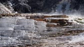 бактерии : View of Jupiter Terrace at Mammoth Hot Springs in Yellowstone National Park in Wyoming