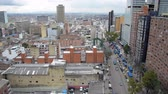 View of downtown Bogota, Colombia and heavy traffic Stock Footage