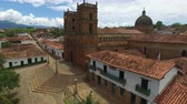 Barichara cathedral and town view in Barichara, Colombia