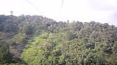 Aerial tram in a park near Bucaramanga, Colombia named Ecoparque Cerro del Santisimo Stock Footage