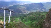 Aerial view of the aerial tram in Chicamocha Canyon in Santander, Colombia