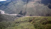 Descending into Chicamocha Canyon in fast motion in Santander, Colombia