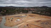 Aerial view of development for a new suburb Stock Footage