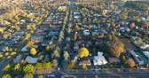 Aerial view of a typical Australian suburb Stock Footage