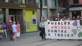 política : Seville (Spain) 1st June 2013: Demonstration against the government. Participants 80