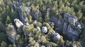 rochoso : Amazing rock formation on Szczeliniec Wielki in Table Mountains National Park. Tourist attraction of Polish Sudetes