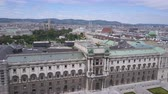 visto : vienna city skyline aerial shot. AERIAL view of Vienna. Cathedrals and cityscape City of Vienna, Austria Vídeos