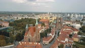 gotic : Aerial view of Cathedral Island in Wroclaw, Poland