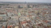 vienna city skyline aerial shot. AERIAL view of Vienna. Cathedrals and cityscape City of Vienna, Austria Wideo