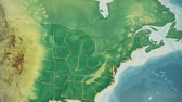 independence : USA Map, Maine pull out, all 50 states available. Transition from natural colors to a vintage look. The states' borders glow and flicker. No names or letters, so you can insert own graphics and fonts. For news, documentaries, info, elections, etc.
