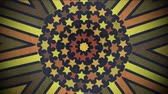 praça : A randomly blinking kaleidoscope background with mixed red, gray and yellow color tones to use as an overlay, text background or any other motion media needs.