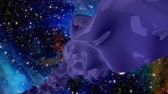 ismeretlen : A purple stream of three-dimensional matter flows through outer space, an alien form of unknown origin
