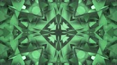 empilhados : Three-dimensional random reflective kaleidoscope block shapes toned in a subtle green hue. Good for a background design element, computer wallpaper or screen saver.