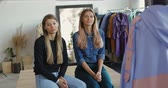 näherei : Two young entrepreneur women, and fashion designer working on her atelier