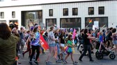 foules : September 8th, 2019 - Oakland, California - 2019 Oakland Pride (LGBTQ) Parade.