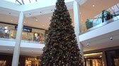 chateau : Arbre de Noël 4K dans Mall Pan Bottom To Top Près de Le Chateau Store