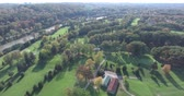 upscale : Golf Drone Course Flyover By River And Trees