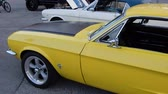supercar : Yellow 67 Ford Mustang Pan Left To Right 4K