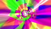 Colorful Rainbow Tie Dye Space Exploration Worm Hole Animation 4K Stock Footage