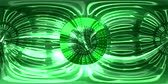 Green Matrix Virtual Reality Text Wormhole Loop Animation 4K 360 VR Stock Footage