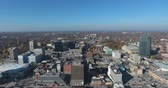 City Center Core High Altitude Panorama Drone Aerial View
