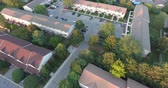 Townhouse Complex Aerial View Flying Straight Up Drone Shot Dostupné videozáznamy