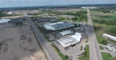 Bus Depot Station with Solar Panels By New Construction Aerial View