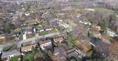 Flying Over Neighborhood Towards Baseball Diamond 4K
