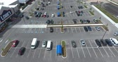 Lowes Hardware Store Parking Lot With Customers And Traffic Aerial