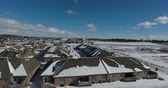 harikalar diyarı : Flying From Forest To Snow Covered Rooftops In Winter Low Level Flying Angle Aerial