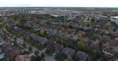 mowed : Flying Over Park Soccer Field Towards Suburbs And Shopping Center In Distance Aerial 002 Stock Footage
