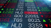 work : Stock Exchange Market Data Board Stock Footage
