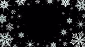 Snowflakes rotate on a transparent background. Video with alpha channel. Video with alpha channel. Looped animation Stock Footage