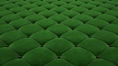 feixes : 3D animation of the flight over a green quilted velvet surface with black drawstrings. Looped video.