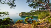 aéreo : Picturesque Mediterranean seascape in Turkey. View of a small bay near the Tekirova village, District of Kemer, Antalya Province.