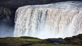 most : Most powerful waterfall in Europe - Dettifoss. Jokulsargljufur National Park, Iceland. White nights view. Full HD video (High Definition).